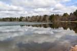 ice on crescent lake on opening of fishing season